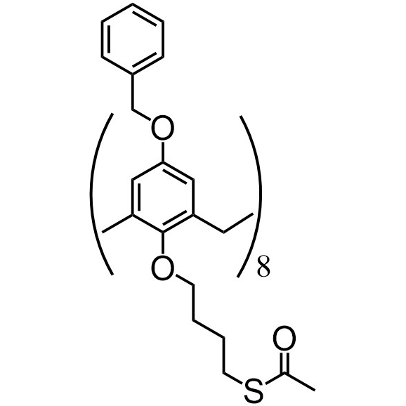 Benzyloxycalix[8]arene-C4-thioacetate (flexible)